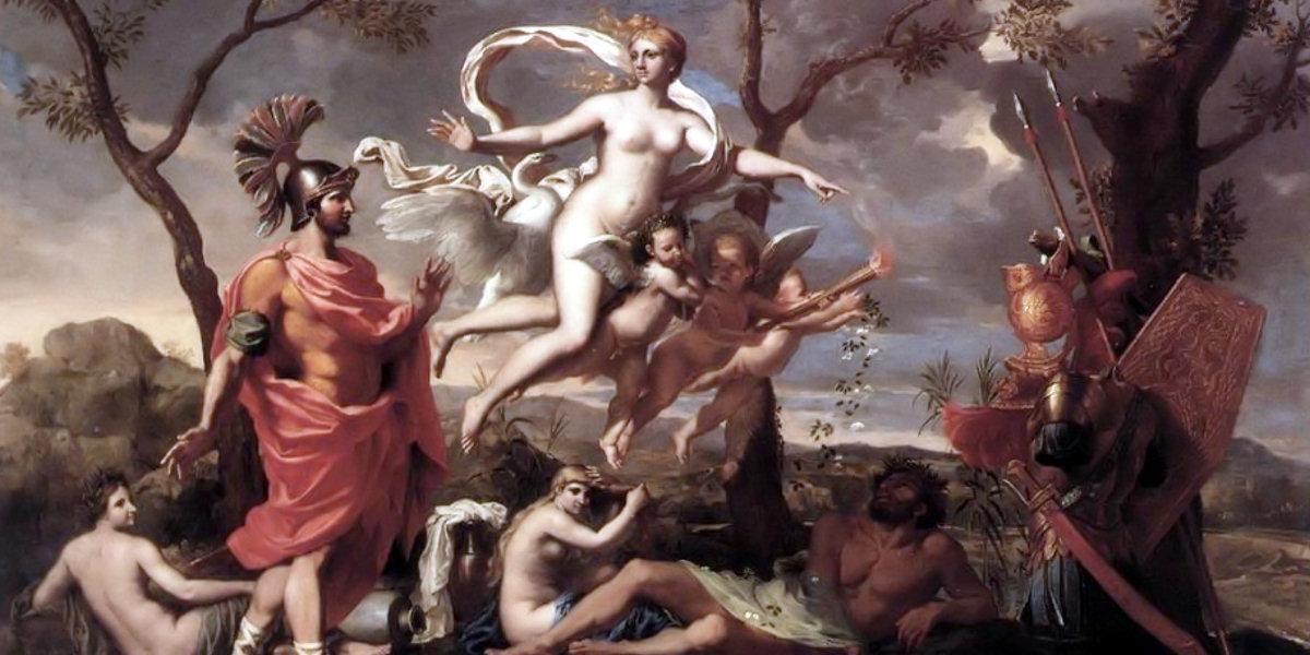 Venere offre le armi a Enea di Nicolas Poussin
