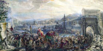 The Triumph of Pompey - Gabriel de Saint-Aubin