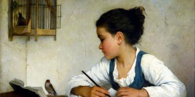 Enfant écrivant (ca. 1870) di Henriette Browne
