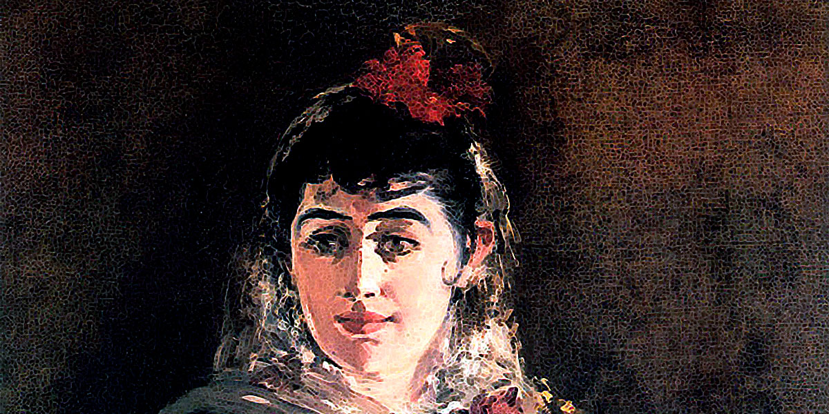 Portrait of Emilie Ambre in role of Carmen. Edouard Manet