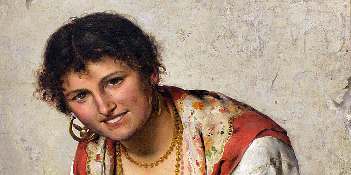 La lavandaia (1888). Pasquale Celommi
