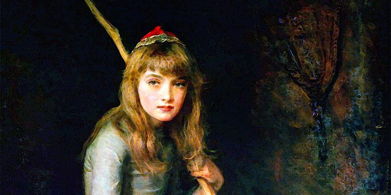 """Cinderella"" di John Everett Millais"