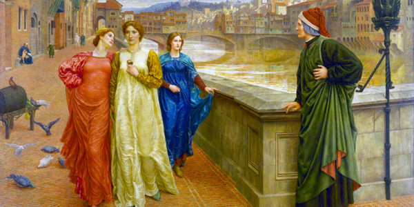 Dante and Beatrice, Henry Holiday, 1882-1884