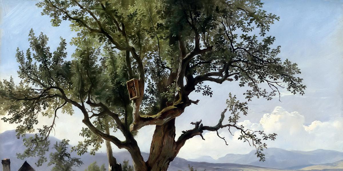 Friedrich Gauermann, Vecchio albero con immagine di devozione