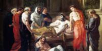 Last Words of the Emperor Marcus Aurelius di Eugène Delacroix