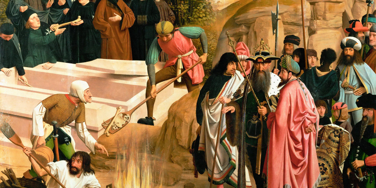 Schicksal der irdischen Überreste Johannes d. Täufers di Geertgen tot Sint Jans (circa 1460 - circa 1488)