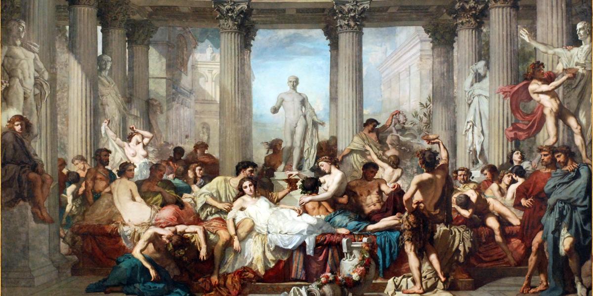 Les Romains de la décadence di Thomas Couture (1815 - 1879)