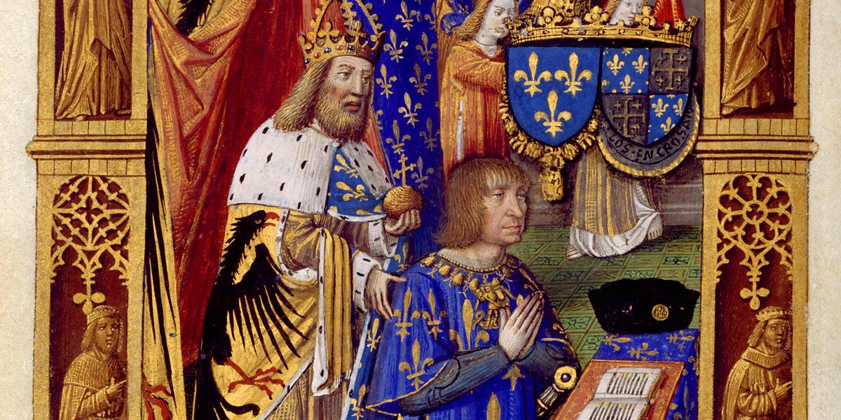 Miniatura del Libro de horas de Carlos VIII di Antoine Verard