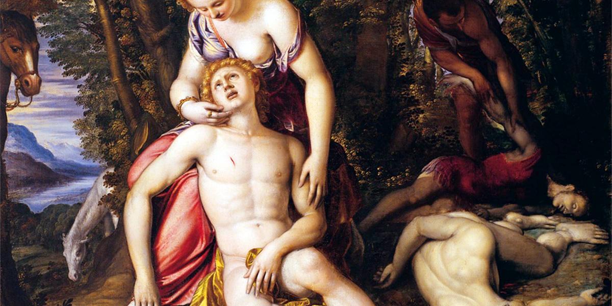 Medoro e Angelica di Simone Peterzano (1540 - 1596)