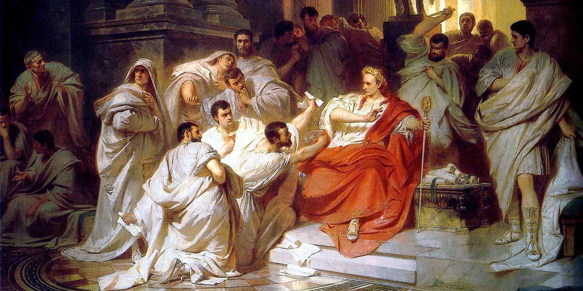 Caesars Tod (1865) di Carl Theodor von Piloty