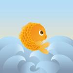 """Illustrazione per il racconto """"Il pesciolino d'oro"""""""