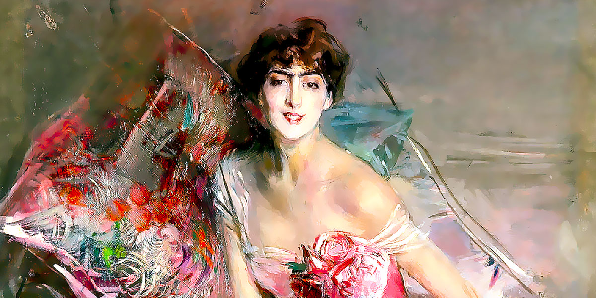 La signora in rosa (Ritratto di Olivia de Subercaseaux Concha) di Giovanni Boldini (1842–1931)