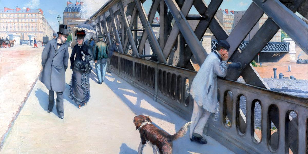 Il ponte dell'Europa (Le Pont de l'Europe) di Gustave Caillebotte