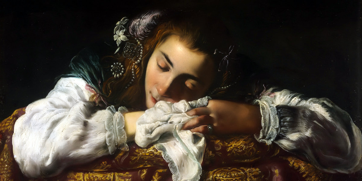 Sleeping Girl di Domenico Fetti