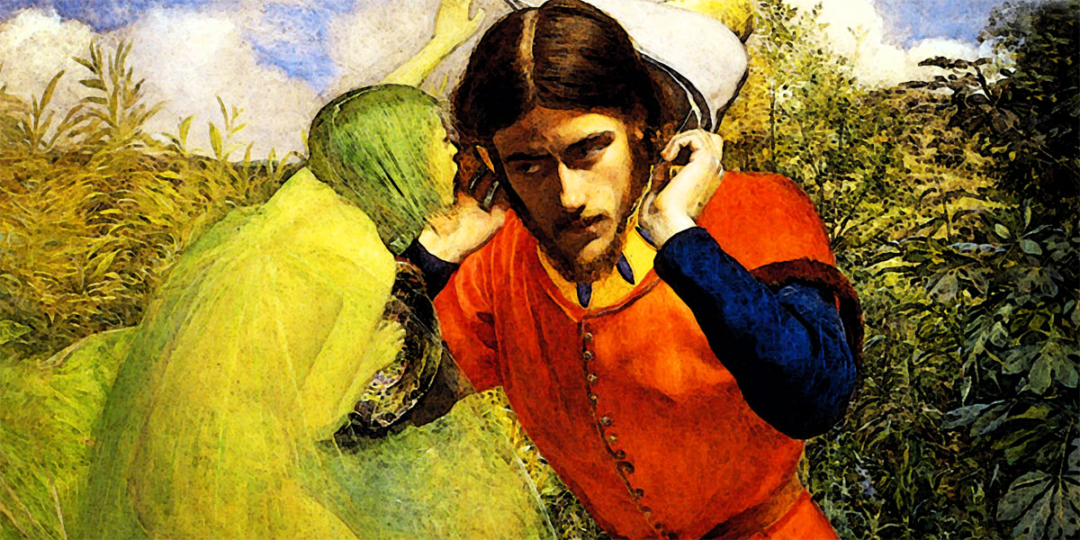 Ferdinand Lured by Ariel di John Everett Millais