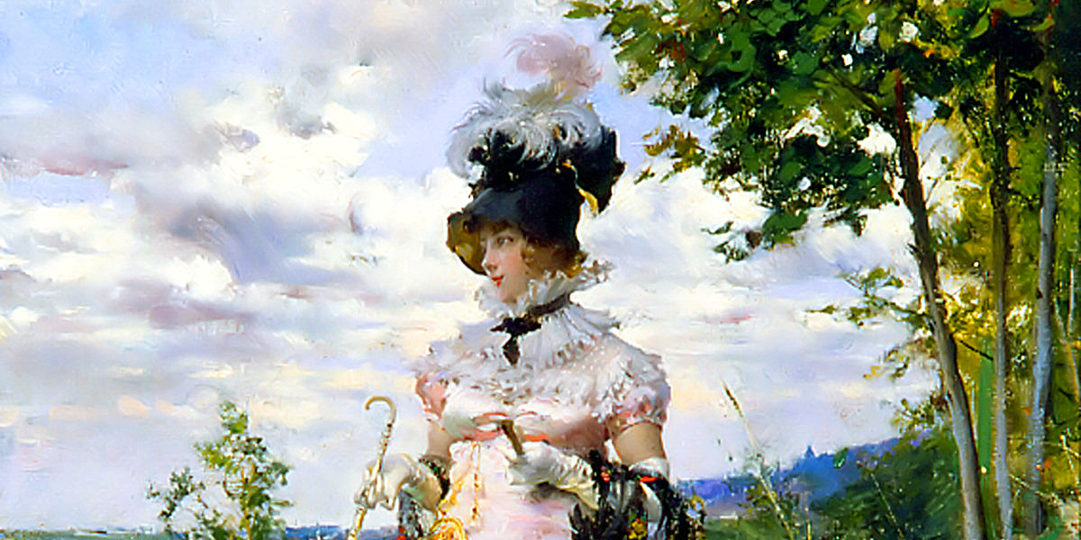 The summer stroll di Giovanni Boldini