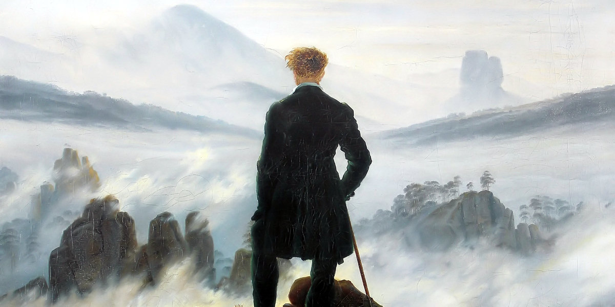 The Sea of Fog di Caspar David Friedrich