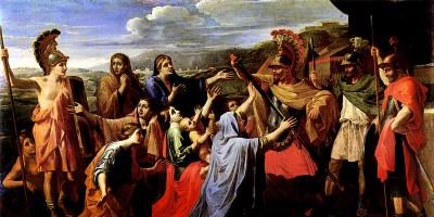 Coriolan supplié par les siens di Nicolas Poussin