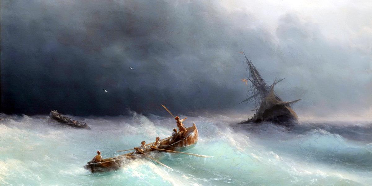 Storm at sea di Ivan Konstantinovič Ajvazovskij
