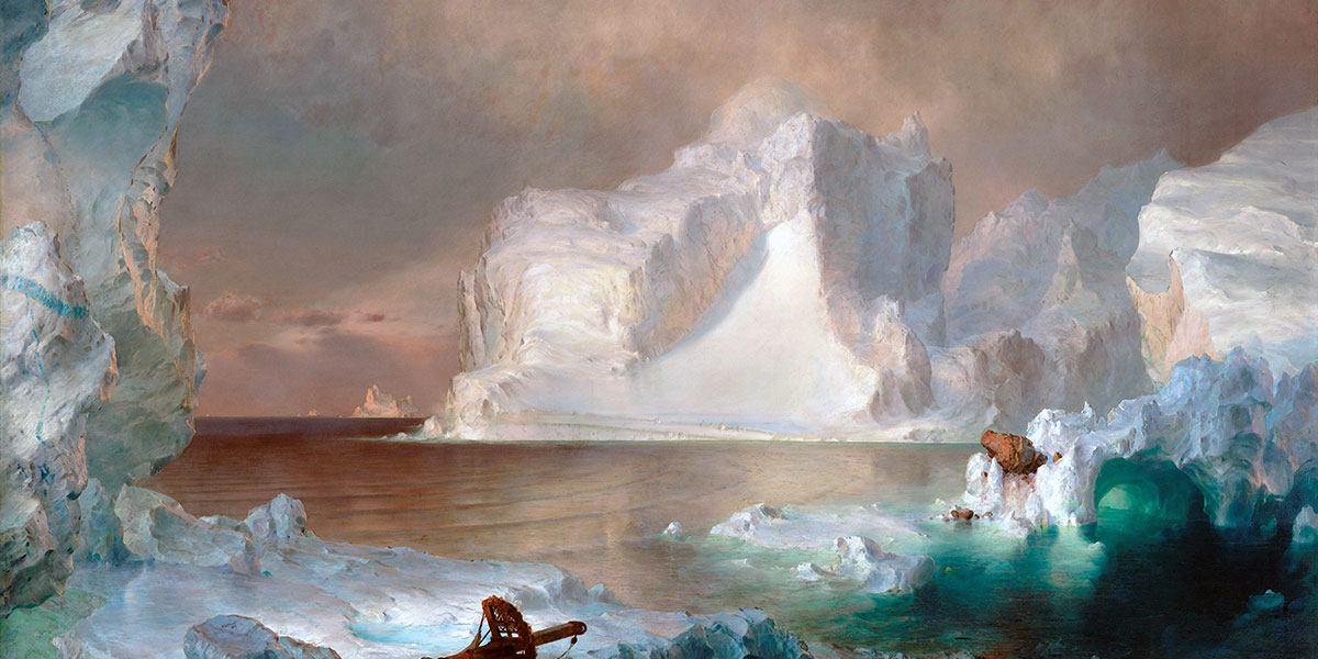 """The Icebergs"" di Frederic Edwin Church"