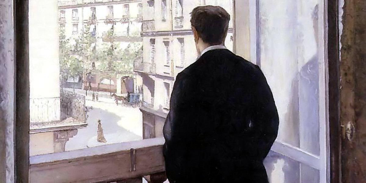 Jeune homme à la fenêtre Cover page of Jean Barois di Gustave Caillebotte