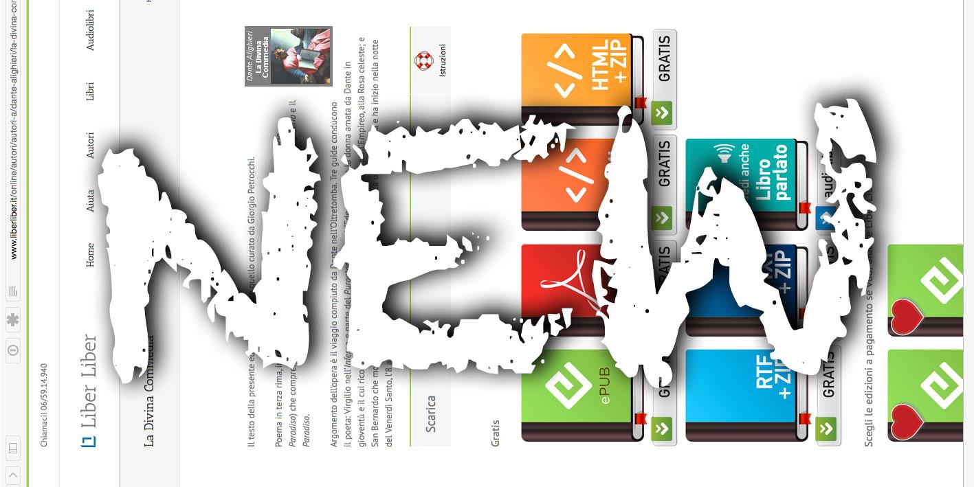 Le nuove pagine del sito Liber Liber
