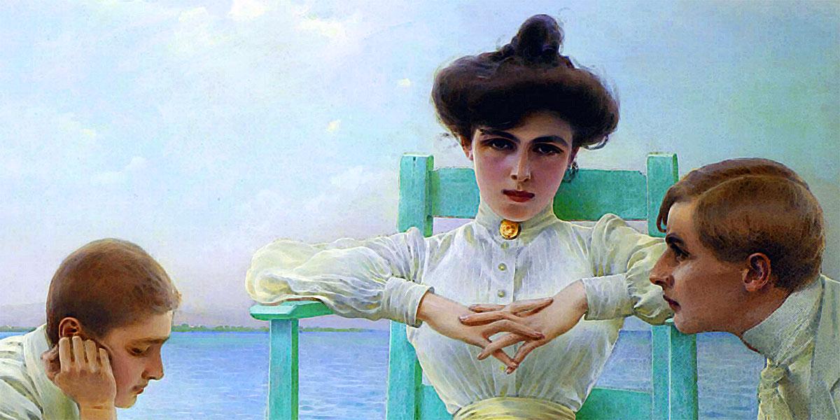 In lettura al mare di Vittorio Matteo Corcos