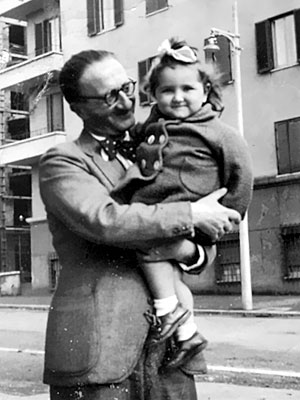 Augusto De Angelis e la nipote Marcella