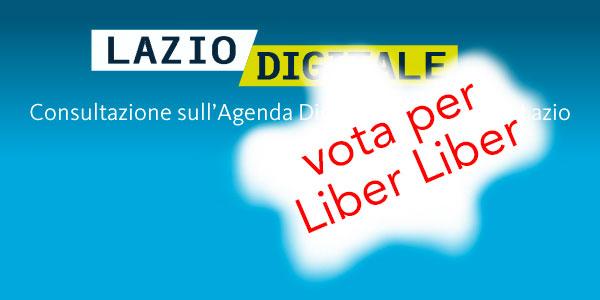 Lazio Digitale: vota per Liber Liber