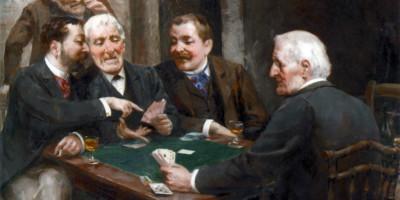 The Card Players. Vera Rockline (1896–1934)