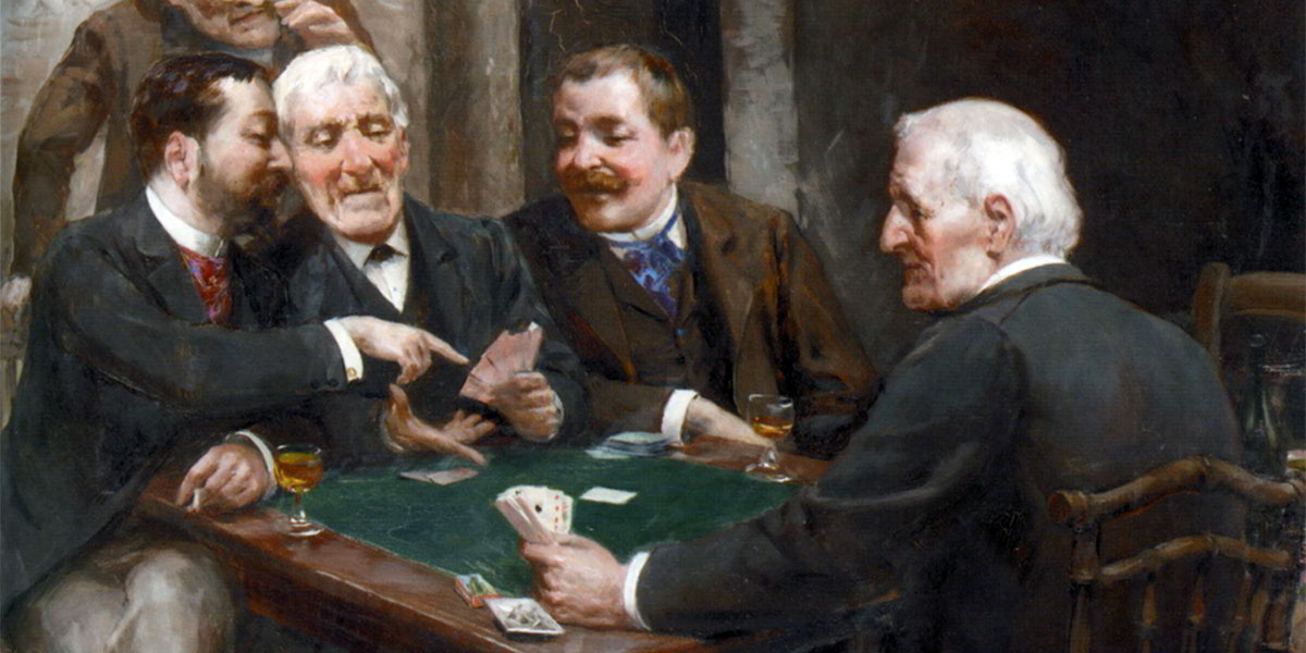 The Card Players. Vera Rockline (1896–1934)