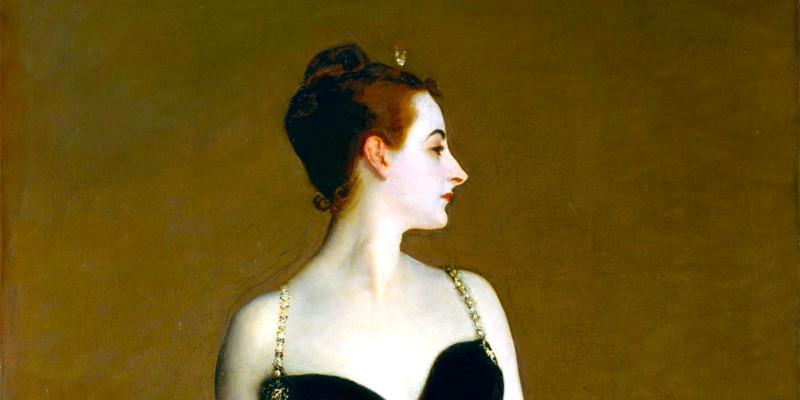 Portrait of Madame X (Madame Pierre Gautreau) di John Singer Sargent (1856–1925)