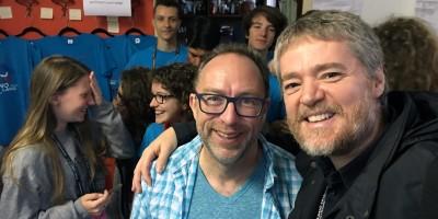 Wikimania 2016 - Jimmy Wales e Marco Calvo