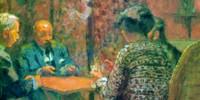 The Game of Bridge - The Salon at the Clos Cêzanne (1923) di Édouard Vuillard (1868–1940)