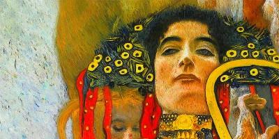 """Hygieia (detail of Medicine)"" di Gustav Klimt"