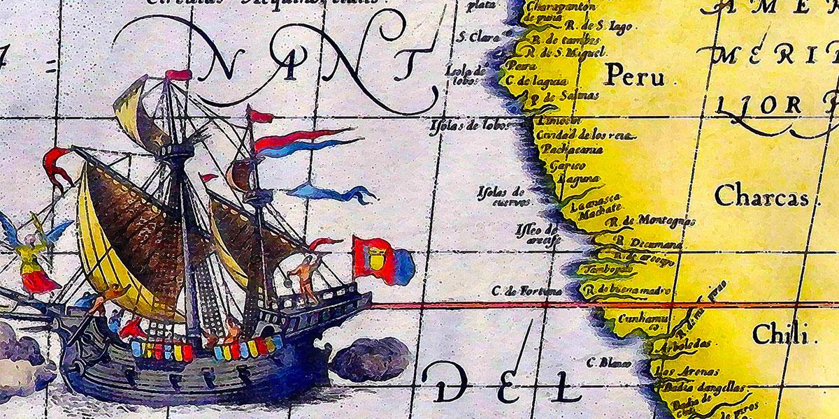 """""""Maris Pacifici"""" di Abraham Ortelius"""