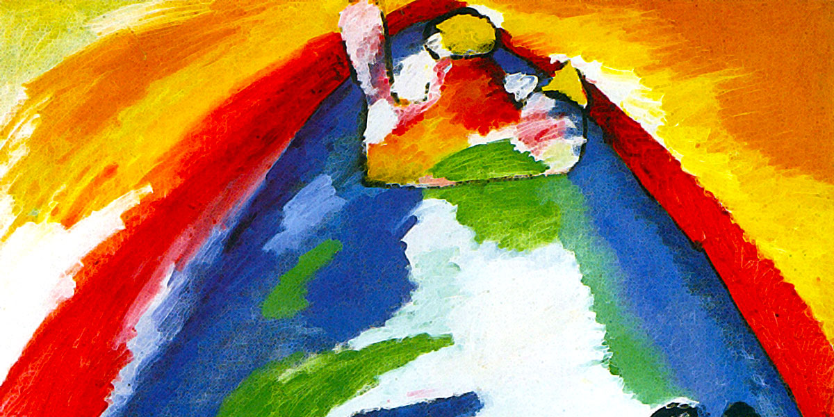 A muntain. Wassily Kandinsky (1866-1944)