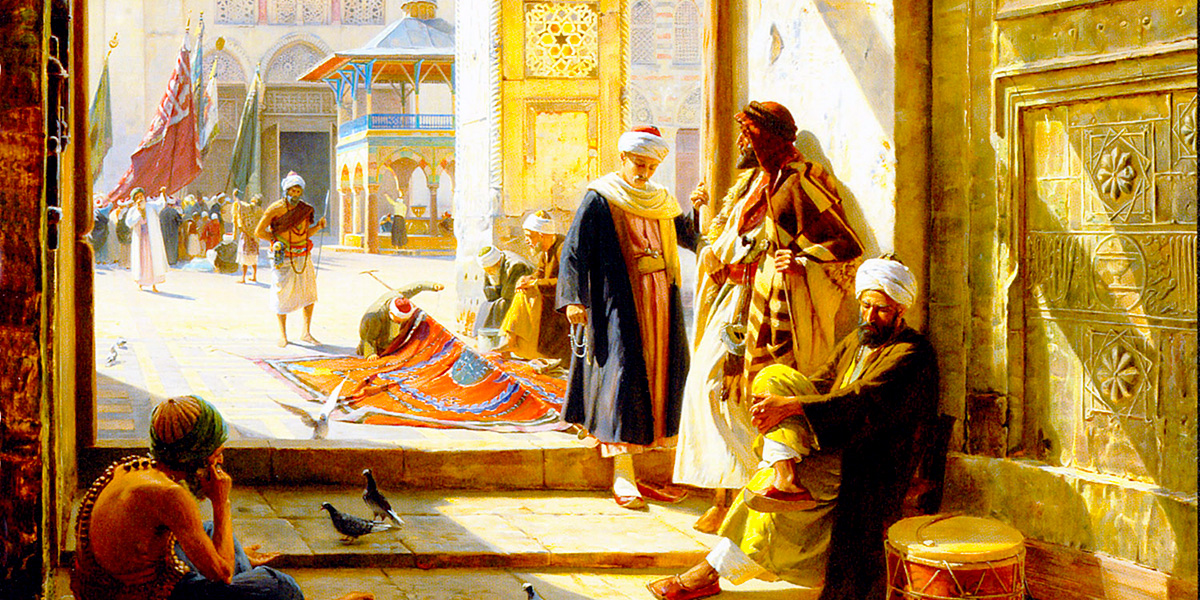 Gate of the Great Mosque, Damascus. Gustav Bauernfeind (1848-1904)