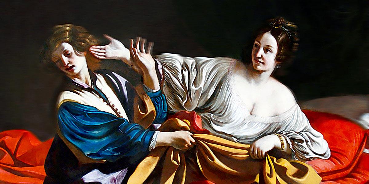 Guercino, Giuseppe e la moglie di Putifarre