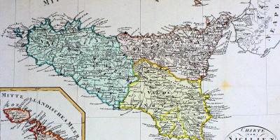 Regno di Sicilia - Mappa (1808)