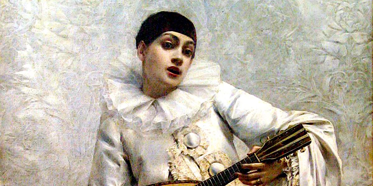 Léon Comerre - Pierrot col mandolino