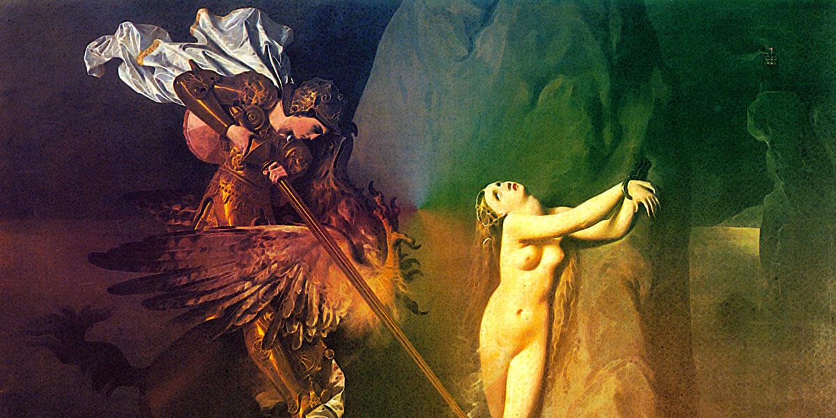 Jean-Auguste-Dominique Ingres - Roger délivrant Angélique (1819)