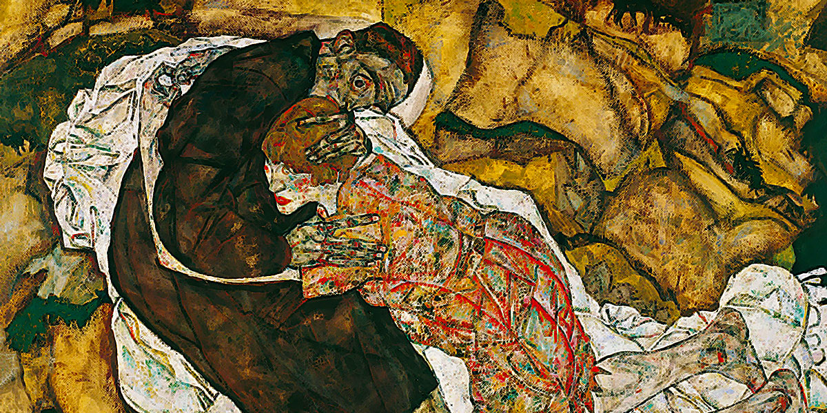 Egon Schiele. Death and the Maiden, 1915