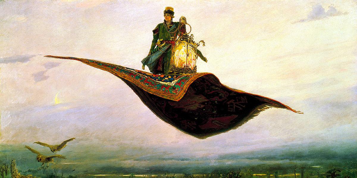 The Flying Carpet. Viktor Vasnetsov (1848–1926)