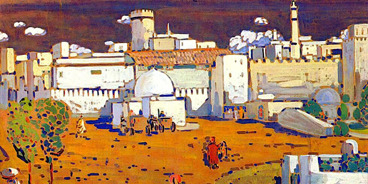 Arab town (1905). Wassily Kandinsky (1866-1944)