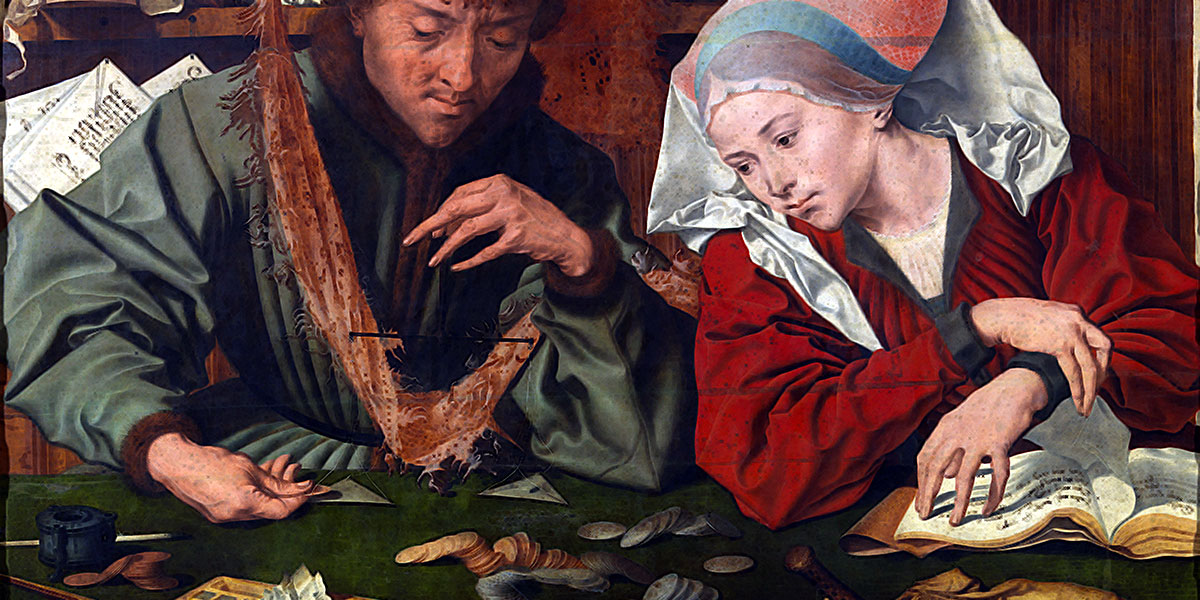 L'orefice con la moglie. Marinus van Reymerswaele