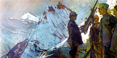 GIULIO ARISTIDE SARTORIO (1860-1932), Castellaccio, 1918