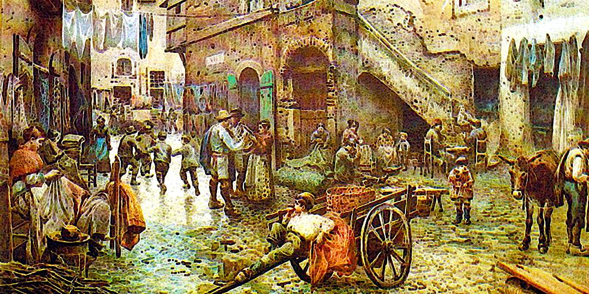 Via dei cappellari (1886). Ettore Roesler Franz (1845-1907)
