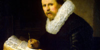 Portrait of a scholar by Rembrandt, 1631