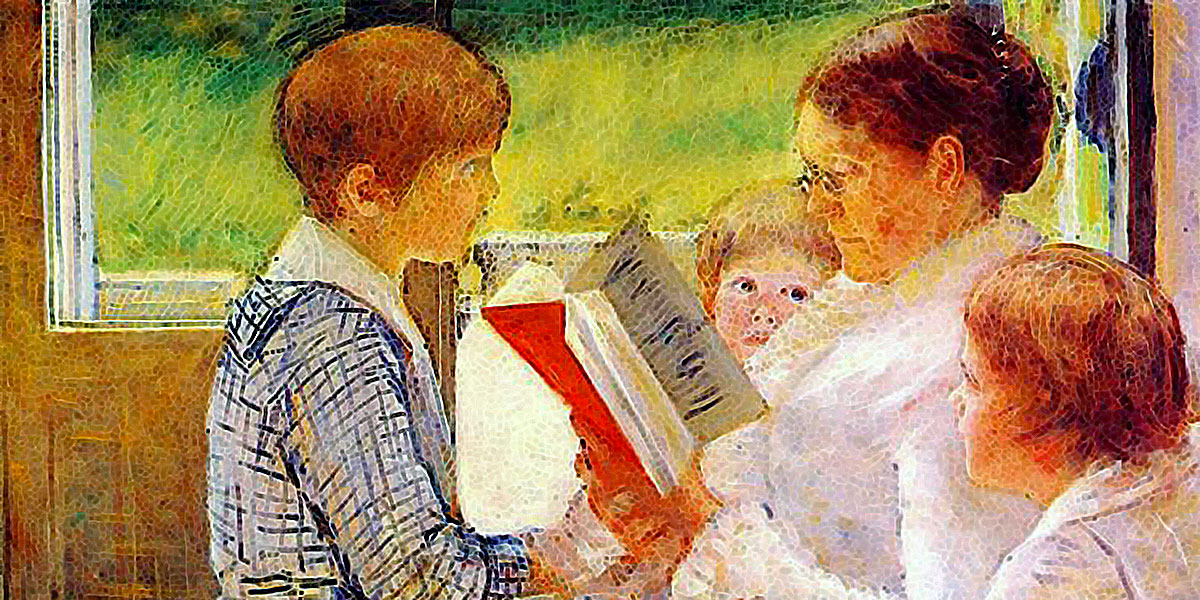 Mrs Cassatt Reading To Her Grandchildren. Mary Cassatt. 1880